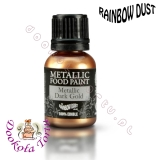 RAINBOW DUST farbka - złota ciemna DARK GOLD