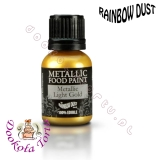 RAINBOW DUST farbka - złota jasna LIGHT GOLD